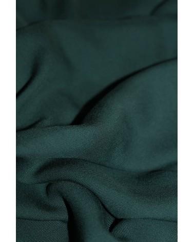 Tissu Vert Sapin Sergé de Viscose