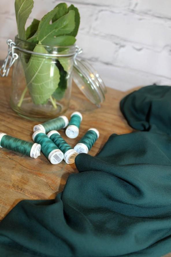 Sergé de Viscose  Vert Sapin
