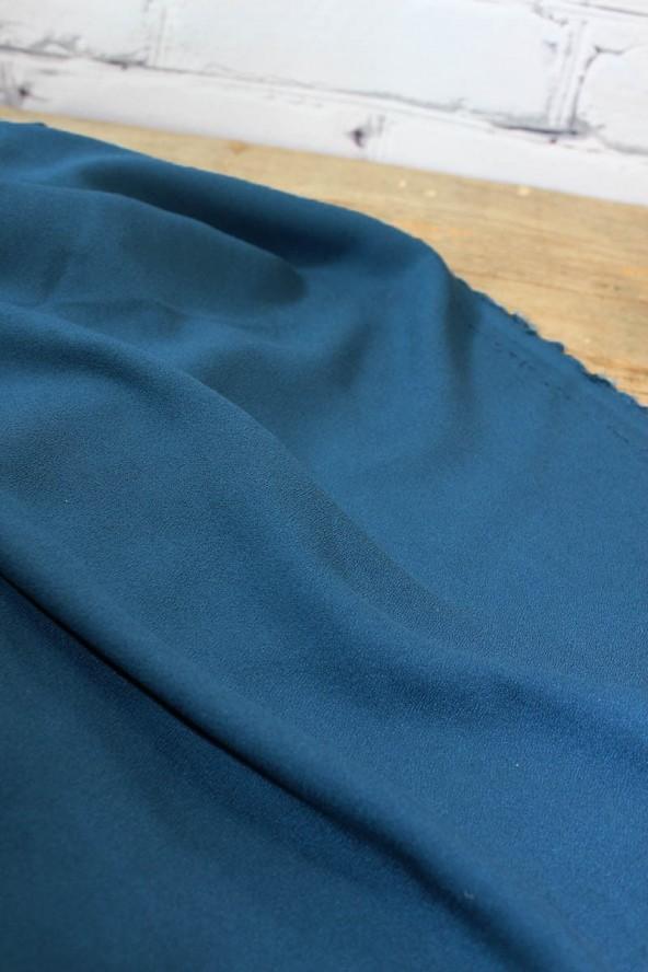 Tissu Bleu Pétrole Crêpe de Viscose