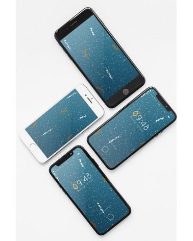 Fond d'écran Lyptus Bleu Pétrole