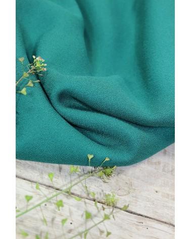 Tissu Crêpe de Viscose Vert Emeraude