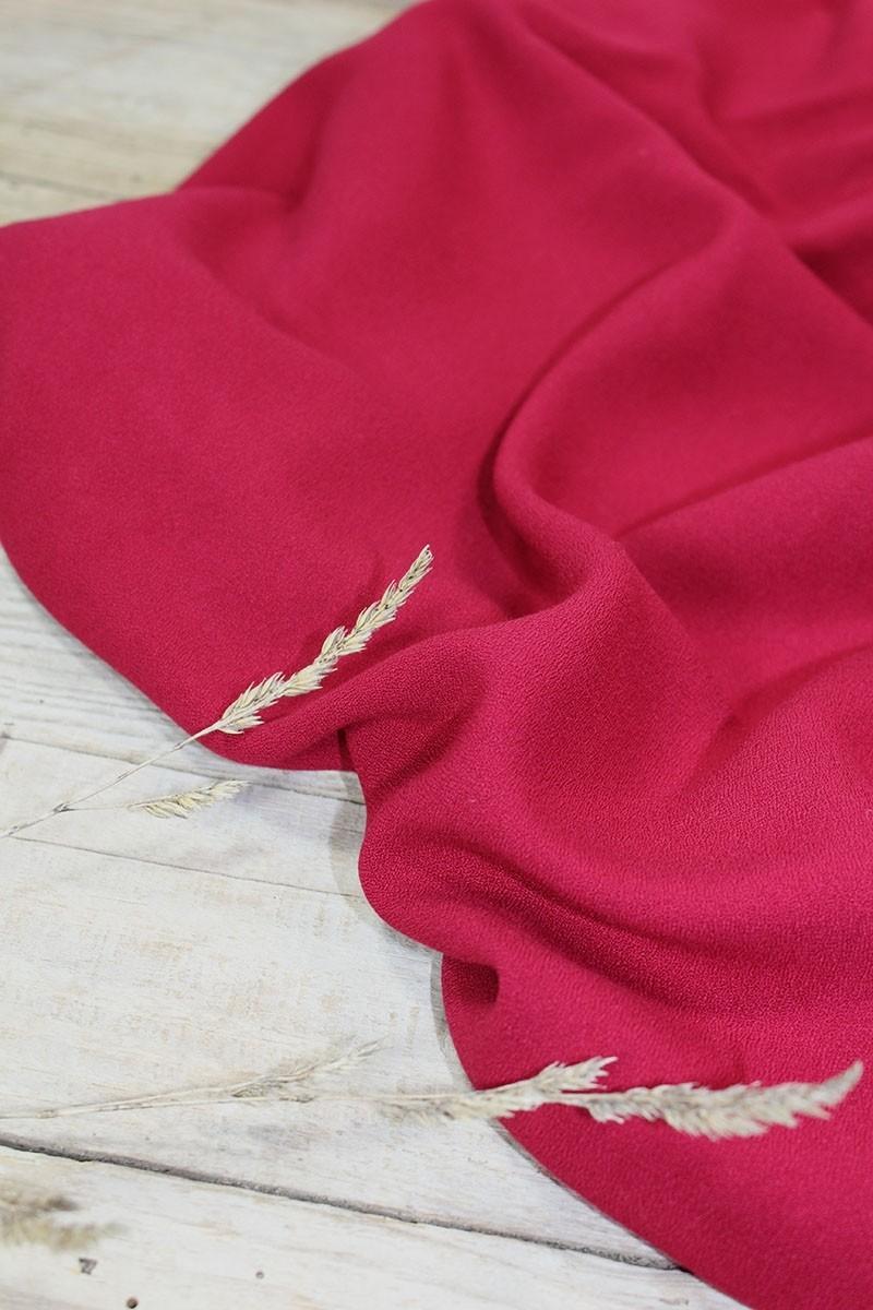 Tissu Rouge Grenade Crêpe de Viscose