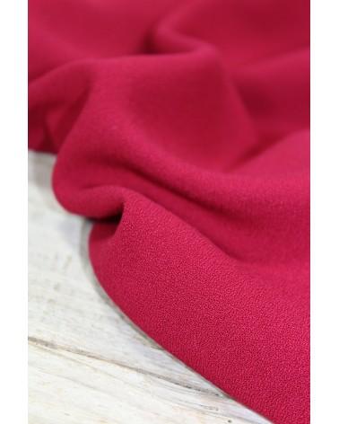 Tissu Crêpe de Viscose Rouge Grenade