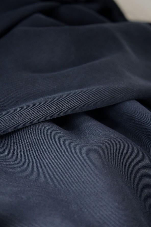 Tissu Sergé de Tencel Navy