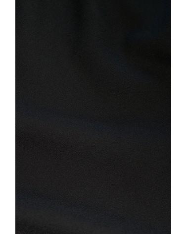 Tissu Noir Réglisse Crêpe de Viscose