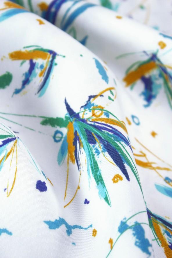 Tissu Ara Bleu Sergé de Lyocell