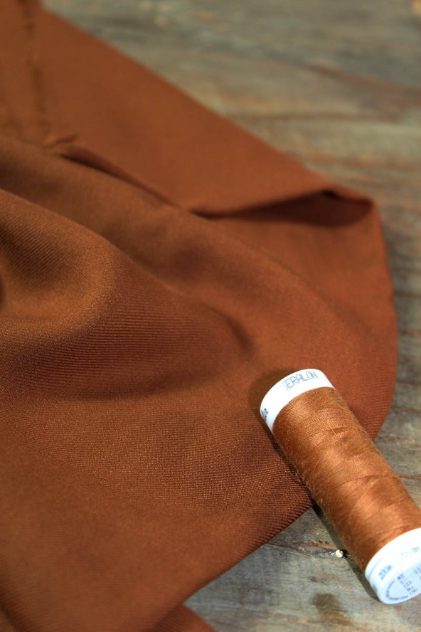 Tissu Caramel  Sergé de Viscose