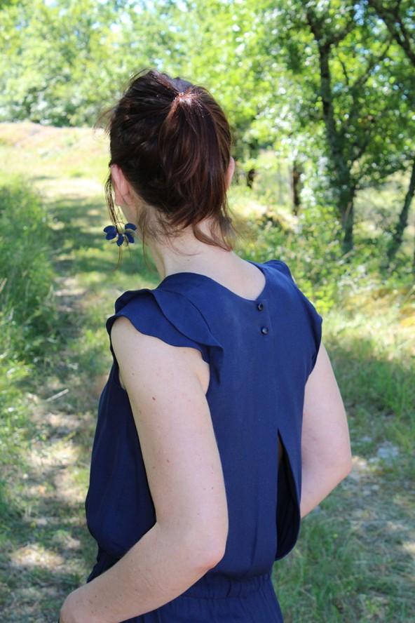 Tissu Bleu Atlantique Crêpe de Viscose
