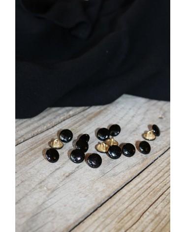 Bouton Shiny Noir