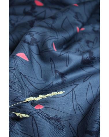 Tissu Cactus Bleu Minéral Sergé de Viscose