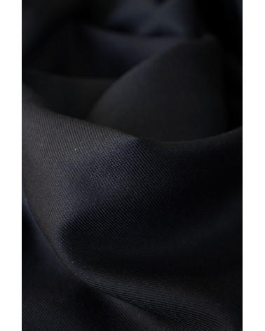 Tissu Noir Réglisse Sergé de Viscose