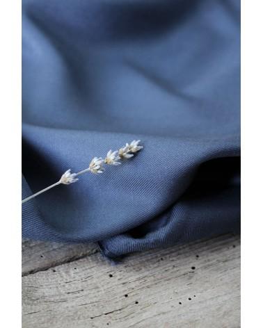 Tissu Bleu Minéral Sergé de Viscose