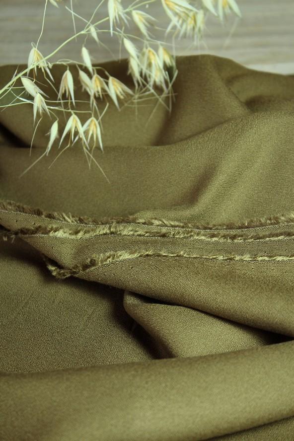 Tissu Kaki Crêpe de Viscose