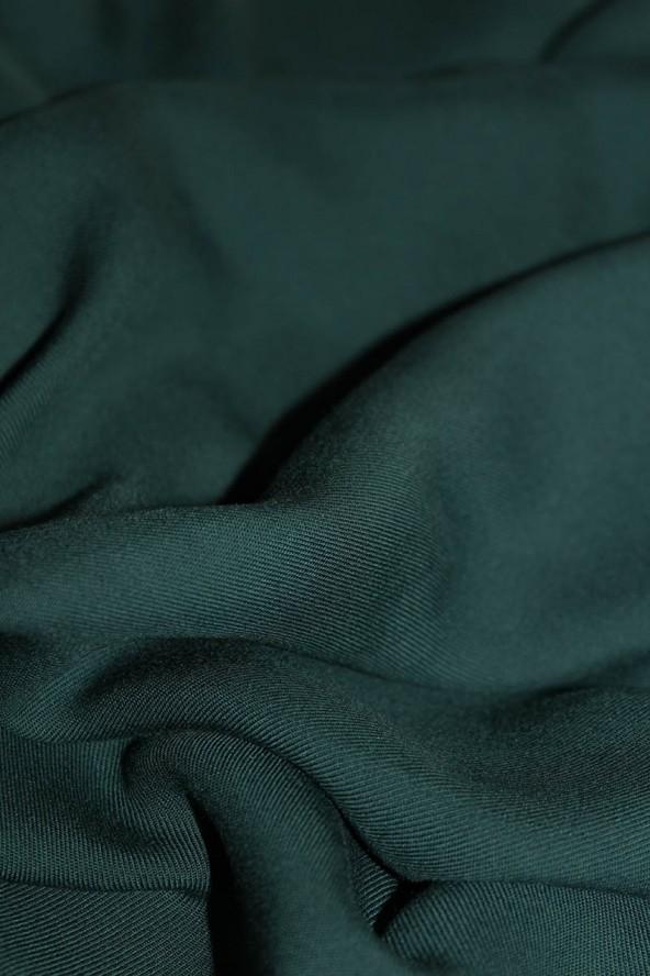 COUPONS Tissu Vert Sapin Sergé de Viscose