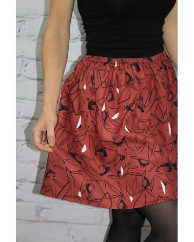 Tissu Cactus Terracotta Sergé de Viscose Eglantine et Zoé jupe fabrication personnelle