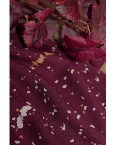 Tissu Lyptus Bordeaux Crêpe de Viscose motifs crées en France