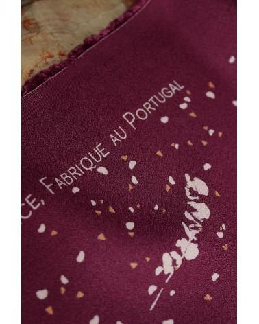 Tissu Lyptus Bordeaux Crêpe de Viscose fabriqué au Portugal