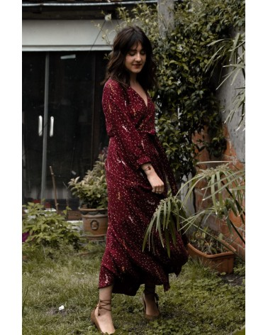 Tissu Lyptus Bordeaux Crêpe de Viscose le plaisir de se coudre une jolie robe
