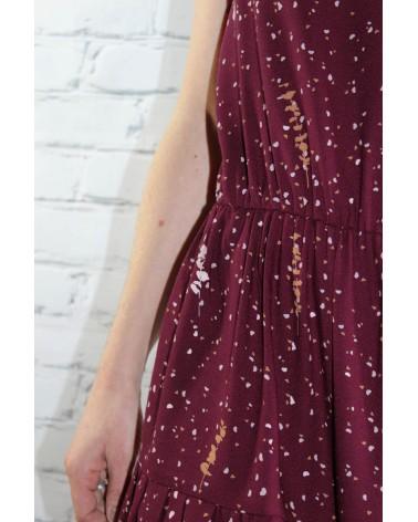 Tissu Lyptus Bordeaux Crêpe de Viscose robe facile à vivre