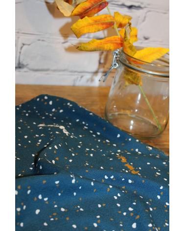 Tissu Lyptus Bleu Pétrole Crêpe de Viscose