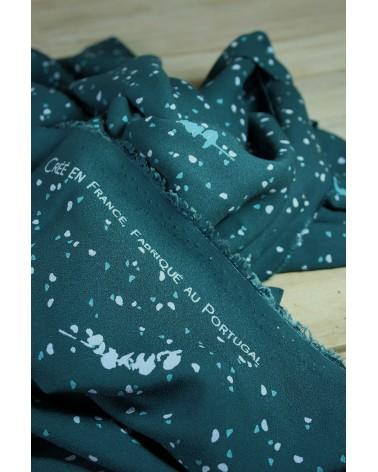 Tissu Lyptus Dark Lagune Crêpe de Viscose douceur et belle tenue