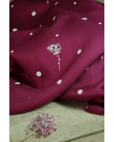 Tissu Polk Poppies Mûroise Sergé de Viscose