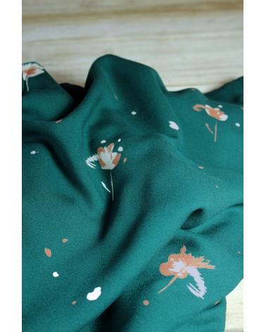 Tissu Windy Vert Sapin Crêpe de Viscose idéal pour coudre des vêtements