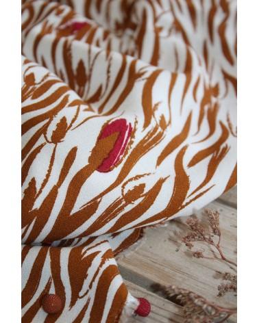 Tissu Crêpe de Viscose Zebra Nacre Eglantine et Zoé facile à coudre