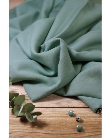 Tissu Vert Sauge Crêpe de Viscose Eglantine et Zoé Créé en France