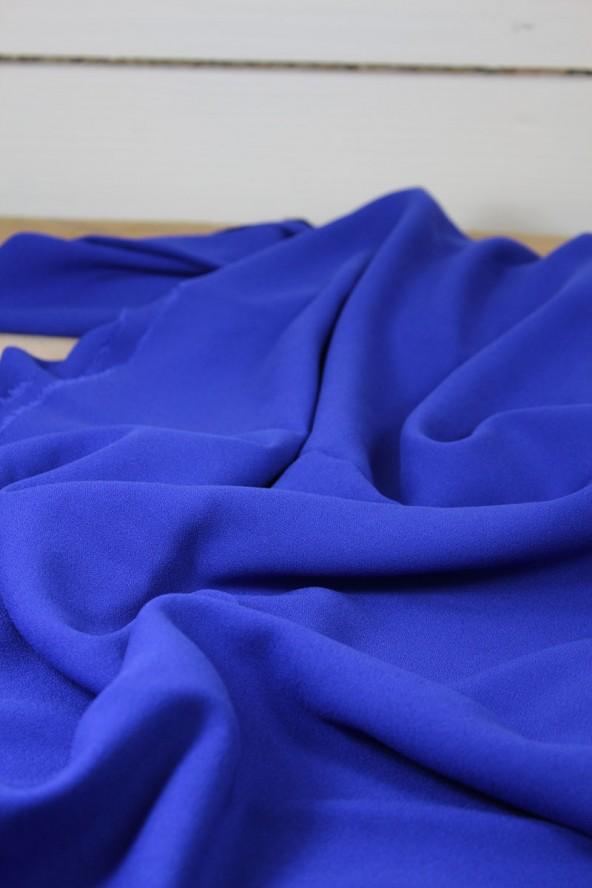 Tissu Bleu Royal Crêpe de Viscose Eglantine et Zoé Créé en France