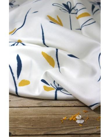 Tissu Bloom Nacre Sergé de Viscose Eglantine et Zoé pour coudre vos vêtements de printemps