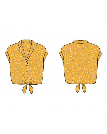 chemise pernille slow sunday paris cousue dans le crepe de viscose avena jaune soleil de eglantine et zoe