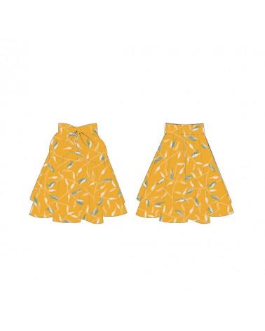 jupe felicie i am-Patterns cousue dans le crepe de viscose avena jaune soleil de eglantine et zoe