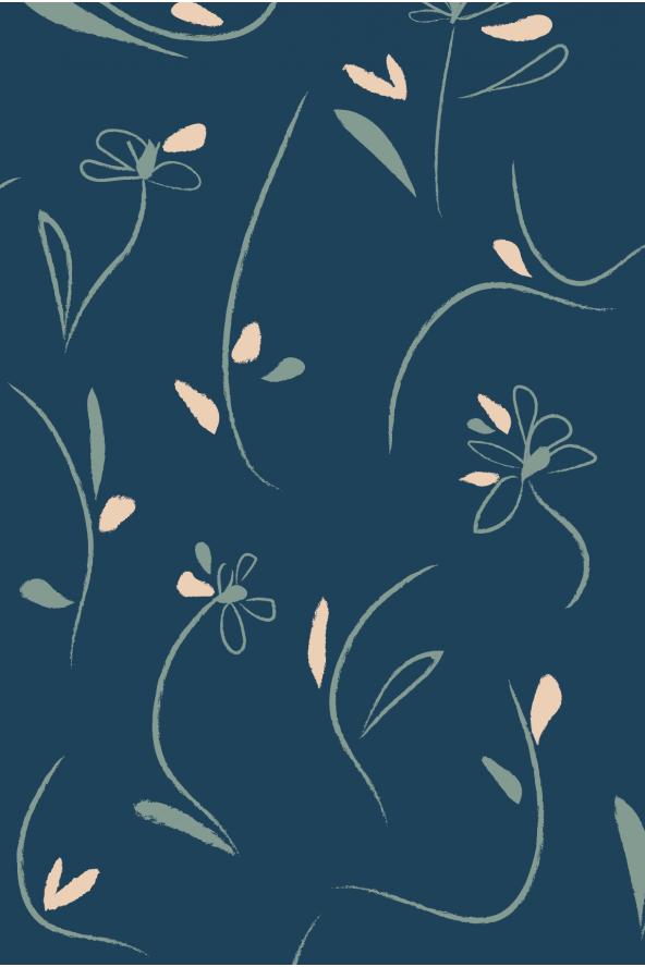 Dessin Bloom Bleu Pétrole de Eglantine et Zoé