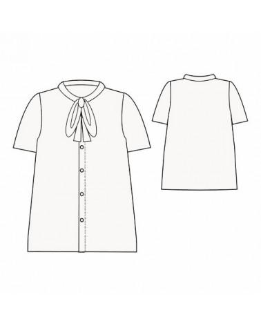 Chemise Maxime de République du Chiffon cousue dans le sergé de viscose Nacre d'Eglantine et Zoé