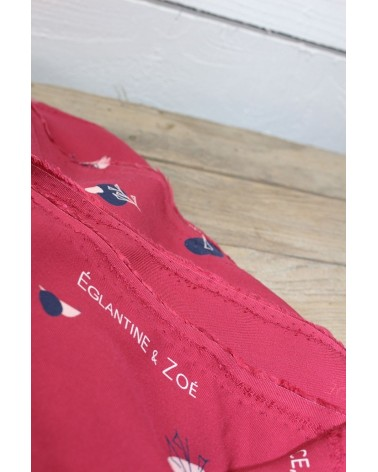 Tissu Stone Grenadine Sergé de Viscose Eglantine et Zoé motifs exclusifs