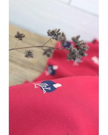 Tissu Stone Grenadine Sergé de Viscose Eglantine et Zoé et fleurs des champs