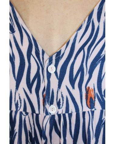 Tissu Zebra Rose Perle Eglantine et Zoe Crêpe de Viscose patron robe it miroir hack aime comme marie boutons