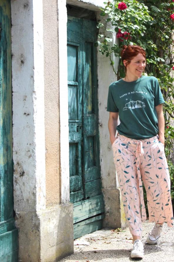 Tissu Avena Nude Eglantine et Zoe Crêpe de Viscose patron pantalon Palazzo short manege aime comme marie