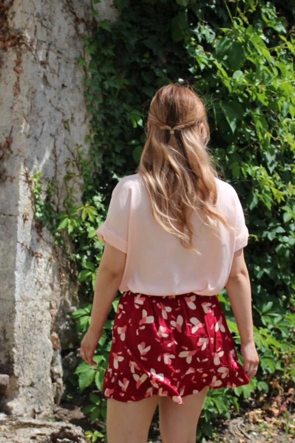 Tissu Uni Nude Eglantine et Zoe Crêpe de Viscose patron blouse vikki anna rose pattern style t-shirt estival
