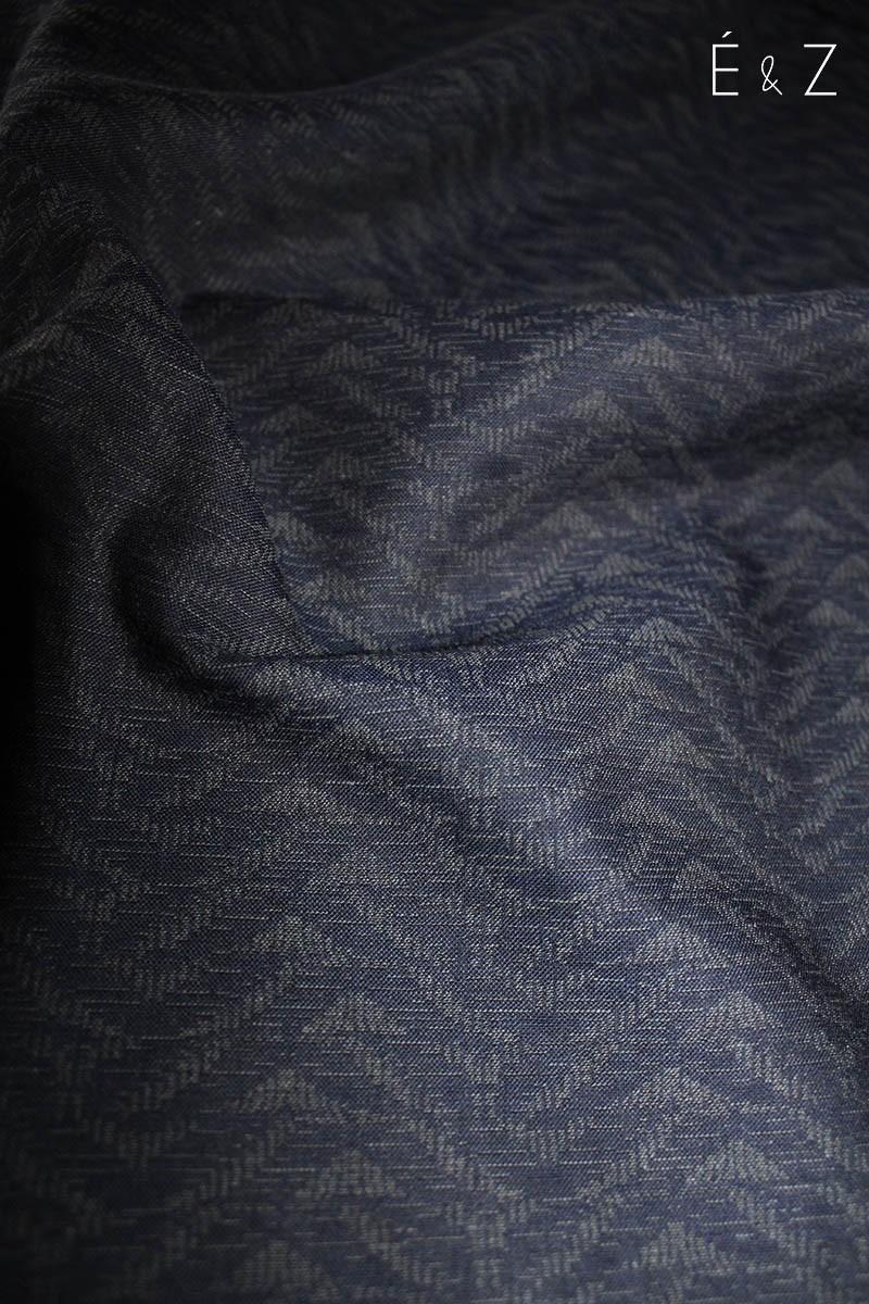 Tissu Coton Blue Fougères