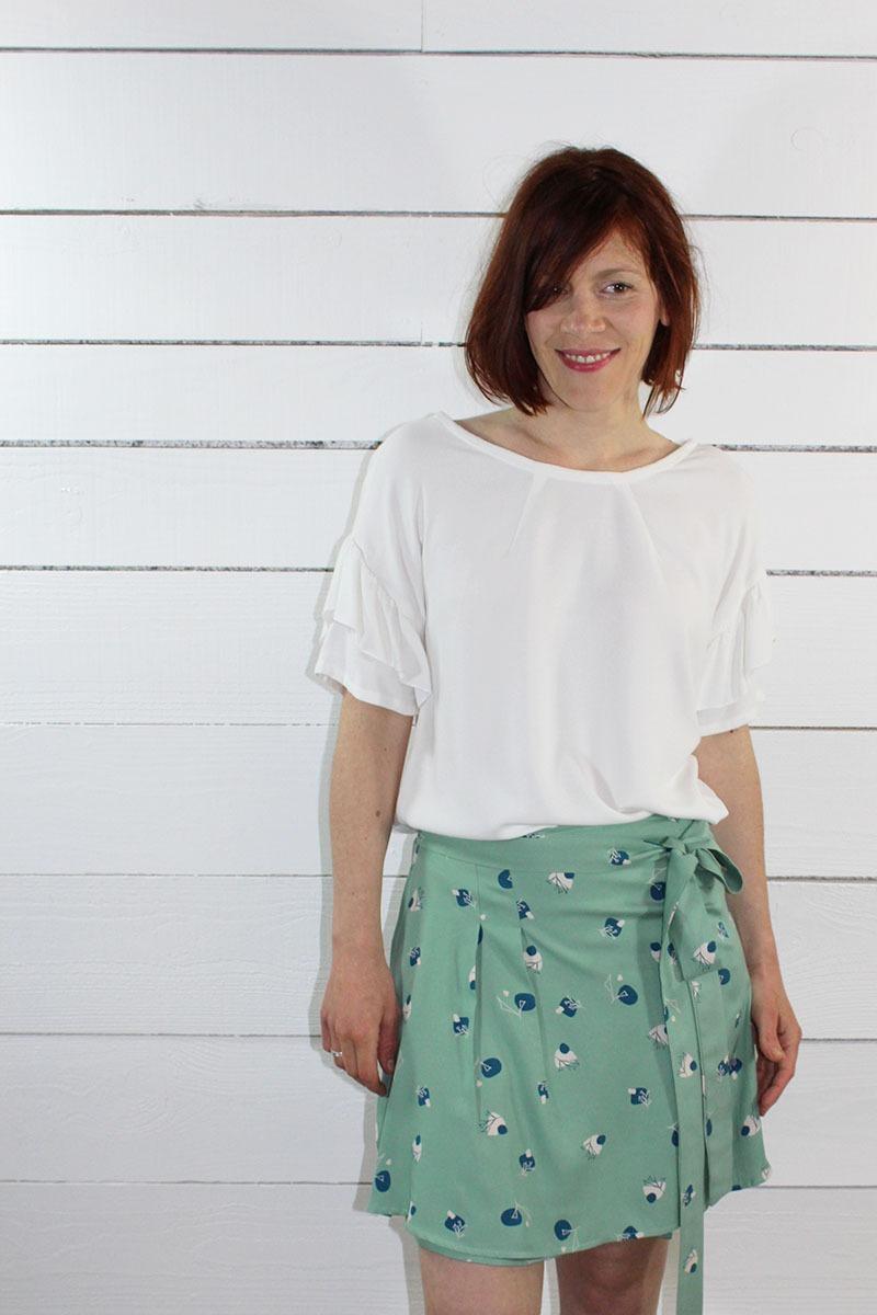 Tissu français couture jupe